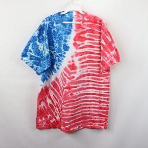 Vintage Hanes Trippy Tie Dye Hippie Shirt Large